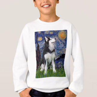 Starry Night - Siberian Husky #1 Sweatshirt