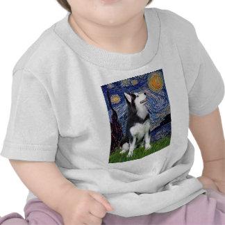 Starry Night - Siberian Husky 1 Tshirt