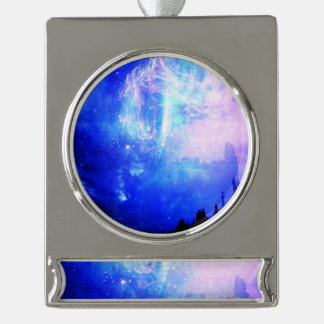 Starry Night Silver Plated Banner Ornament