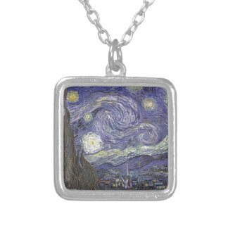 Starry Night Silver Plated Necklace