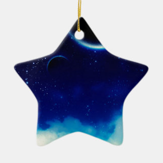 Starry Night Sky Ceramic Ornament