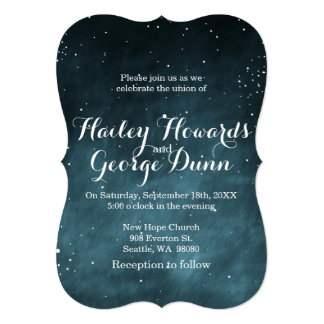 Starry Night Sky Constellations Wedding Invitation