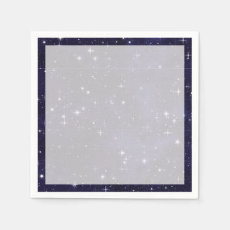 Starry Night Sky Grid Paper Napkins