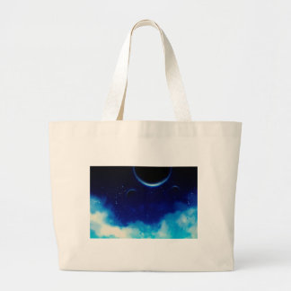 Starry Night Sky Large Tote Bag