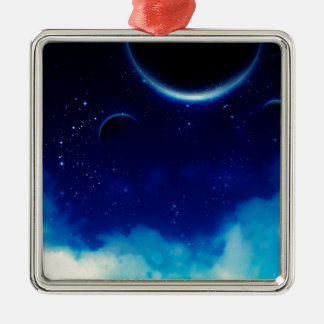 Starry Night Sky Metal Ornament