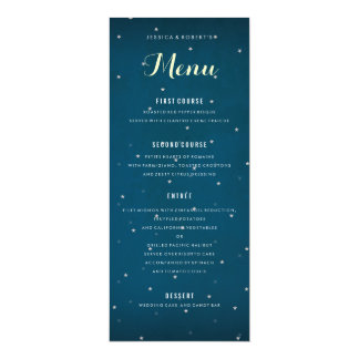 Starry Night Sky Wedding Dinner Menu Template