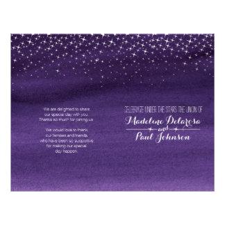 Starry night sky wedding programme 21.5 cm x 28 cm flyer
