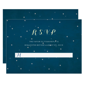 Starry Night Sky Wedding RSVP Response Card
