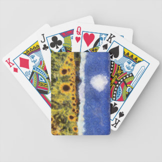 Starry Night Sunflowers Bicycle Playing Cards