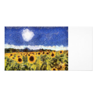 Starry Night Sunflowers Card