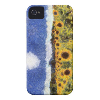 Starry Night Sunflowers iPhone 4 Cover