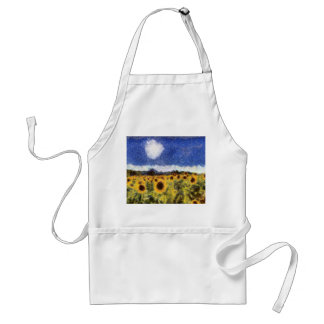 Starry Night Sunflowers Standard Apron