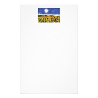 Starry Night Sunflowers Stationery