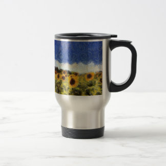 Starry Night Sunflowers Travel Mug