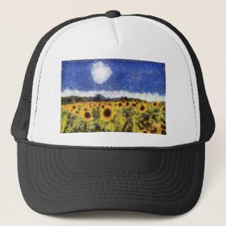 Starry Night Sunflowers Trucker Hat