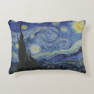 Starry Night throw cushion by Vincent Van Gogh
