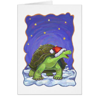 Starry Night Tortoise Christmas Note Card