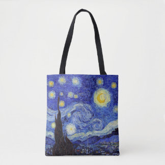 Starry Night Tote Bag 2 styles 2 sizes