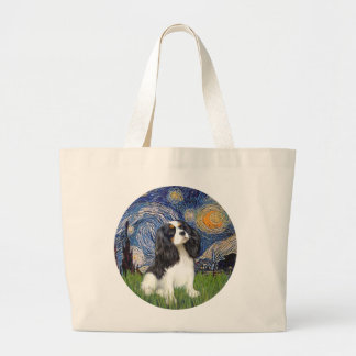Starry Night - Tri Cavalier #5 Large Tote Bag