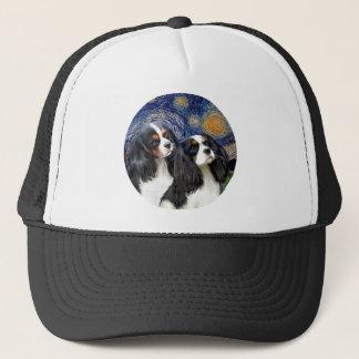 Starry Night - Two Tri Cavaliers Trucker Hat