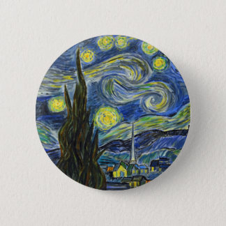 Starry Night, Van Gogh 6 Cm Round Badge