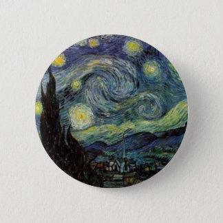 Starry Night - van Gogh 6 Cm Round Badge