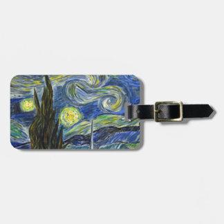 Starry Night, Van Gogh Bag Tag