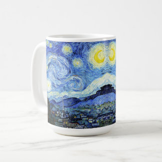 Starry Night Van Gogh Impressionism Painting Mug