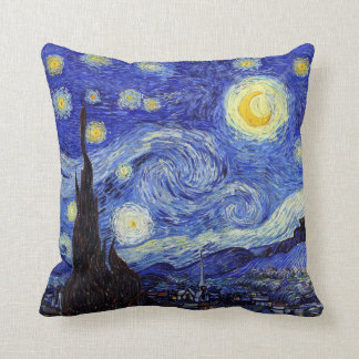 Starry Night Van Gogh Inspired Pillows