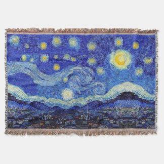 Starry Night Van Gogh Inspired Throw Blanket