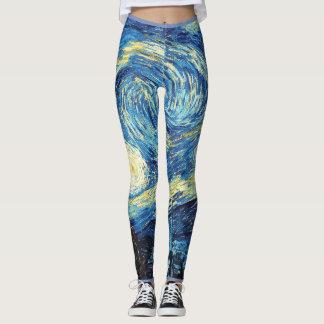 Starry Night Van Gogh Leggings