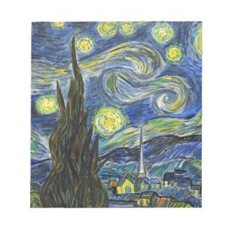 Starry Night, Van Gogh Notepad