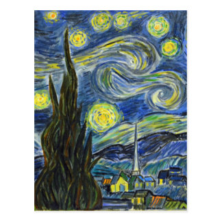 Starry Night, Van Gogh Postcard