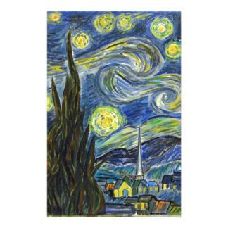 Starry Night, Van Gogh Stationery