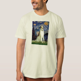 Starry Night (Vertical) - Borzoi T-Shirt