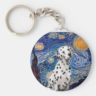Starry Night (Vertical)  - Dalmatian Key Ring
