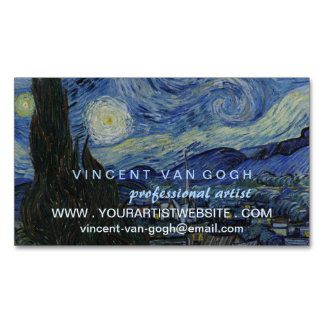 Starry Night Vincent van Gogh Artist Magnetic Business Cards