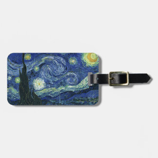 Starry Night Vincent van Gogh Fine Art Painting Luggage Tag