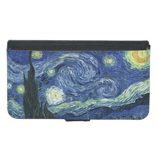 Starry Night Vincent van Gogh Fine Art Painting Samsung Galaxy S5 Wallet Case