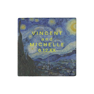 Starry Night Vincent van Gogh Stone Magnet