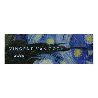 Starry Night Vincent van Gogh Pack Of Skinny Business Cards