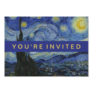 Starry Night Vincent van Gogh Painting Card