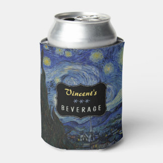 Starry Night Vincent van Gogh Painting Custom Can Cooler