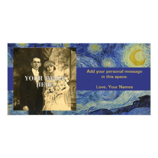 Starry Night Vincent van Gogh Painting Custom Photo Card