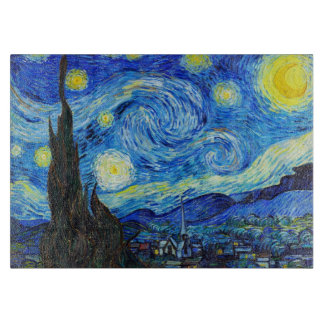 Starry Night Vincent Van Gogh painting paris Cutting Board