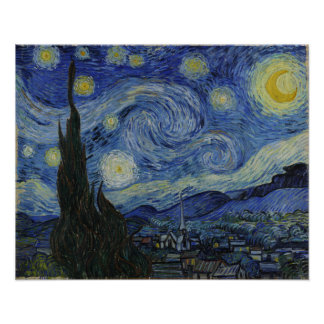 Starry Night Vincent van Gogh Painting Poster