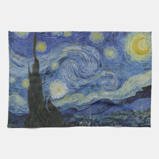 Starry Night Vincent van Gogh Painting Tea Towel
