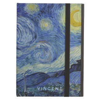 Starry Night Vincent van Gogh Personalized iPad Air Cover