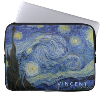Starry Night Vincent van Gogh Personalized Laptop Sleeve
