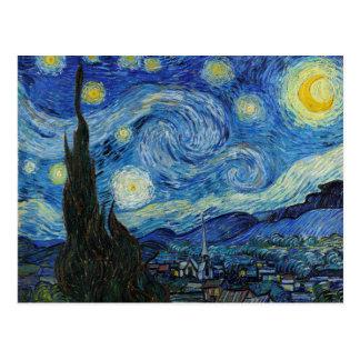 Starry Night   Vincent Van Gogh Postcard